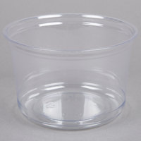 Fabri-Kal Alur RD16 16 oz. Recycled Customizable Clear PET Plastic Round Deli Container   - 50/Pack