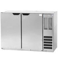 Beverage Air BB48Y-1-S 48 inch Stainless Steel Back Bar Refrigerator with 2 Solid Doors - 115V
