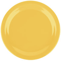 Carlisle 4350122 Dallas Ware 9 inch Honey Yellow Melamine Plate - 48/Case