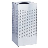 Rubbermaid FGSC10SSPL Silhouettes Stainless Steel Designer Waste Receptacle - 10 Gallon