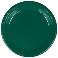 Creative Converting 28312421 9 inch Hunter Green Plastic Plate - 20/Pack