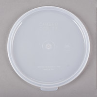 Cambro CCPL27148 Replacement White 1.5 and 2.7 Qt. Round Clear Crock Lid - 12/Case