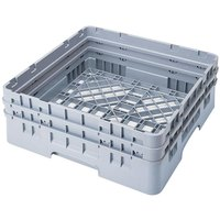 Cambro BR578151 Soft Gray Camrack Customizable Full Size Open Base Rack with 2 Extenders