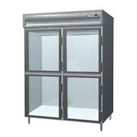Delfield SADRL2-GH 49.92 Cu. Ft. Glass Half Door Dual Temperature Reach In Refrigerator / Freezer - Specification Line