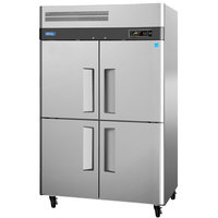 Turbo Air M3R47-4 52 inch M3 Series Four Half Door Reach In Top Mount Refrigerator - 47 Cu. Ft.