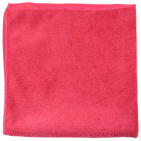Unger MC40R SmartColor MicroWipe 16 inch x 16 inch Red Light-Duty Microfiber Cleaning Cloth