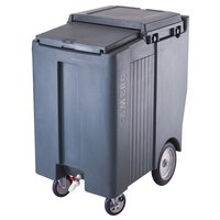 Cambro ICS200TB401 SlidingLid Slate Blue Portable Ice Bin - 200 lb. Capacity Tall Model