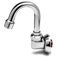 T&S B-0529 Wall Mounted Swivel Gooseneck Spout with Aerator - 4 3/4 inch High with 2 3/4 inch Spread