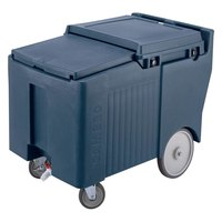 Cambro ICS175LB401 SlidingLid Slate Blue Portable Ice Bin - 175 lb. Capacity