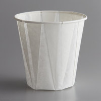 Genpak W500F Harvest Paper Compostable 5 oz. White Paper Souffle / Drinking Cup - 2500/Case