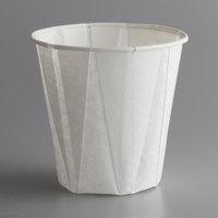 Genpak W500F Harvest Paper Compostable 5 oz. White Paper Souffle / Drinking Cup - 2500/Case