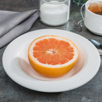 Homer Laughlin 8816900 Kensington 10 oz. Bright White China Grapefruit Bowl - 24/Case