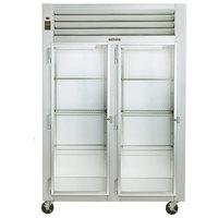 Traulsen G21013 2 Section Glass Door Reach In Refrigerator - Left / Left Hinged Doors