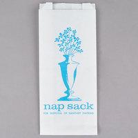 Bagcraft Papercon 300314 White Nap Sack Sanitary Disposal Bags with Blue Ink Print   - 1000/Case