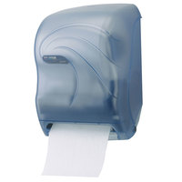 San Jamar T1390TBL Tear-N-Dry Oceans Hands Free Roll Towel Dispenser - Arctic Blue