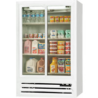Beverage-Air LV15HC-1-W 36 inch White Lumavue Refrigerated Sliding Glass Door Merchandiser