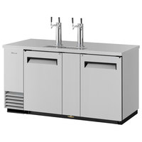 Turbo Air TBD-3SD (2) Double Tap Kegerator Beer Dispenser - Stainless Steel, (3) 1/2 Keg Capacity