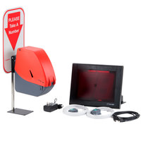 Turn-O-Matic 3813830 Take a Number System with D900 Ticket Dispenser - Plug and Play