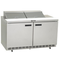 Delfield 4460N-8 60 inch 2 Door Refrigerated Sandwich Prep Table