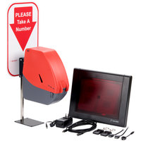 Turn-O-Matic 20015 Take a Number System with Wireless Remotes and D900 Ticket Dispenser - Hard Wired