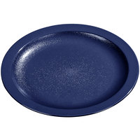 Carlisle PCD20650 Blue 6 1/2 inch Polycarbonate Narrow Rim Plate 48 / Case