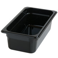Carlisle 3066103 StorPlus 1/3 Size Black Food Pan - 4 inch Deep