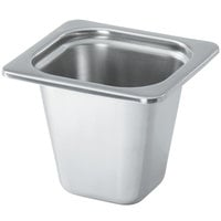 Vollrath 8266205 Miramar® 1/6 Size Satin-Finished Stainless Steel Steam Table Food Pan - 6 inch Deep