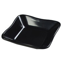 Carlisle 793403 Black Scalloped 8.5 oz. Deli Crock - 5 1/2 inch x 5 1/2 inch x 1 1/4 inch 48 / Case