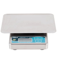 Edlund WSC-20 OP Poseidon 20 lb. Waterproof Digital Portion Scale with Oversized 7 inch x 8 3/4 inch Platform