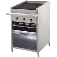 Bakers Pride F-48GS Liquid Propane 48 inch Floor Model Glo Stone Charbroiler - 198,000 BTU