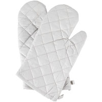 Choice 13 inch Silicone Cloth Oven / Freezer Mitts - 2/Pack