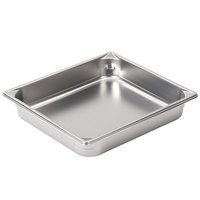 Vollrath 30222 Super Pan V 1/2 Size Anti-Jam Stainless Steel Steam Table / Hotel Pan - 2 1/2 inch Deep