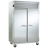 Traulsen G24314P 2 Section Pass-Through Hot Food Holding Cabinet with Left / Right Hinged Doors