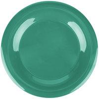 Carlisle 3302409 Sierrus 12 inch Meadow Green Wide Rim Melamine Plate - 12/Case