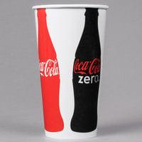 Dart Solo RN32CB-K1038 Coke® 28-32 oz. Poly Paper Cold Cup - 480/Case