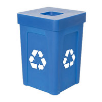 Blue Stacking Flat Lid Recycle Bin - 48 Gallon