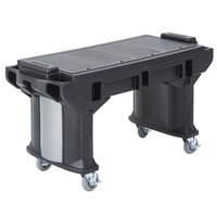 Cambro VBRT5110 Black 5' Versa Work Table with Standard Casters