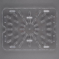 Carlisle 1023507 StorPlus 1/2 Size Clear Polycarbonate Drain Tray