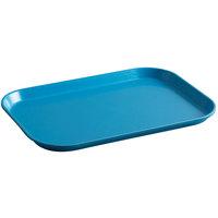Cambro 1015MT142 10 inch x 15 inch Blue Fiberglass Market Tray - 24/Case