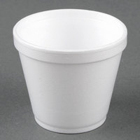 Dart Solo 8SJ12 8 oz. Squat White Foam Food Bowl - 50/Pack