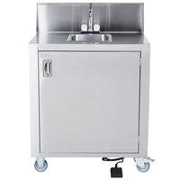 Crown Verity CVPHS-1 Single Bowl Portable Hand Sink Cart