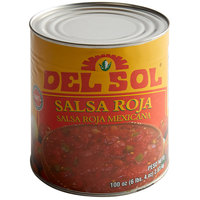 Del Sol #10 Can Red Mexican Salsa - 6/Case