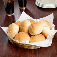 11 inch x 1 1/2 inch Round Wicker Bread Basket
