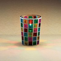 Sterno Products 80280 3 1/4 inch Mini Mosaic Liquid Candle Holder