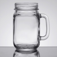 Libbey 97084 16 oz. Drinking Mason Jar with Handle - 12 / Case