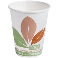 Bare by Solo 378PLA-J7234 Eco-Forward 8 oz. Paper Hot Cup - 1000/Case