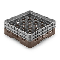 Cambro 16S958167 Camrack Customizable 10 1/8 inch High Customizable Brown 16 Compartment Glass Rack