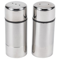 American Metalcraft SP29 .75 oz. Stainless Steel Round Salt and Pepper Shaker Set