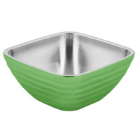 Vollrath 4763535 Double Wall Square Beehive 5.2 Qt. Serving Bowl - Green Apple