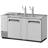 Turbo Air TCB-3SD (2) Double Tap Club Top Kegerator Beer Dispenser - Stainless Steel, (3) 1/2 Keg Capacity